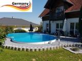 6,25 x 3,60 x 1,25 m Achtform-Gartenpool Achtform-Schwimmbecken