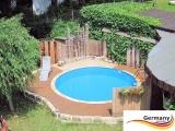 Aluwand Pool 730 x 125 Alupool Komplettset Aluminium-Pool