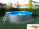 Pool mit Edelstahlwand 8,0 x 1,25 Edelstahlpool