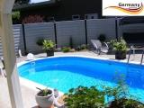 4,9 x 3,0 x 1,25 Alu Schwimmbecken Swimmingpool Komplettset