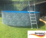 640 x 120 cm Poolset Stone Pool Steinoptik
