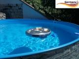 460 x 120 cm Poolset Stone Pool Steinoptik