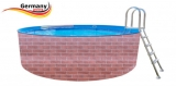 7,0 x 1,2 Schwimmingpool Ziegel-Optik