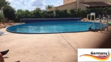 Pool aus Alu 3,60 x 1,25 m Alupool Aluminium-Pool