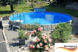 Aluwand Pool 320 x 125 Alupool Komplettset Aluminium-Pool
