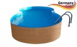 8,55 x 5,00 x 1,20 Achtformpool-Holz-Optik Achtform-Wood Set