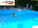 625 x 360 x 120 Pool achtform Achtform Pool Brick Ziegel
