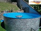 600 x 120 cm Poolset Stone Pool Steinoptik