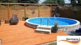 7,30 x 1,25 m Schwimmbecken Komplettset