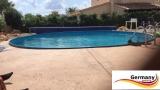 Pool aus Edelstahl 800 x 125 cm Edelstahlpool Komplettset