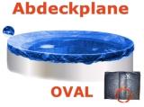 Ovalbecken Elfenbein 7,0 x 3,5 x 1,25 m Komplettset