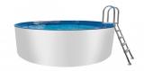 Aluwand Pool 400 x 125 Alupool Komplettset Aluminium-Pool