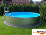 Pool mit Edelstahlwand 4,0 x 1,25 Edelstahlpool