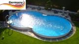 4,70 x 3,00 x 1,25 m Achtform-Stahlwandpool Set Stahl-Pool