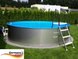 Pool aus Edelstahl 250 x 125 cm Edelstahlpool Komplettset