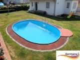 5,00 x 3,00 x 1,25 m Alu Ovalpool Ovalbecken Pool oval