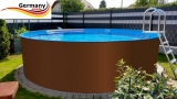 800 x 125 cm Stahl-Pool Set