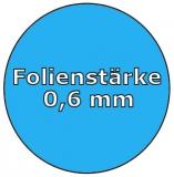 Innenfolie oval 6,00 x 3,20 x 1,35 m x 0,6 Keilbiese