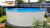Aluwand Becken 3,60 x 1,50 m Aluminium-Swimmingpool