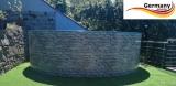 4,60 x 1,20 Stone Pool Stein Optik
