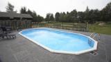 6,10 x 3,60 x 1,32 m Ovalpool Center Pool oval freistehend