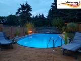 Ovalbecken Holz Design 4,5 x 3,0 x 1,20 m Komplettset