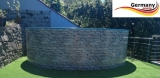 200 x 120 cm Poolset Stone Pool Steinoptik